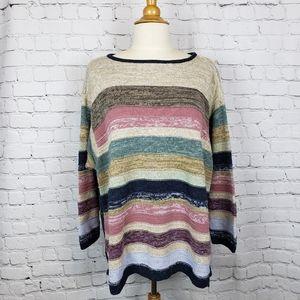 Vintage Chaps Button Side Hi Low Sweater 2…